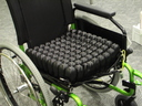 pressure relieving cushion in wheelchair